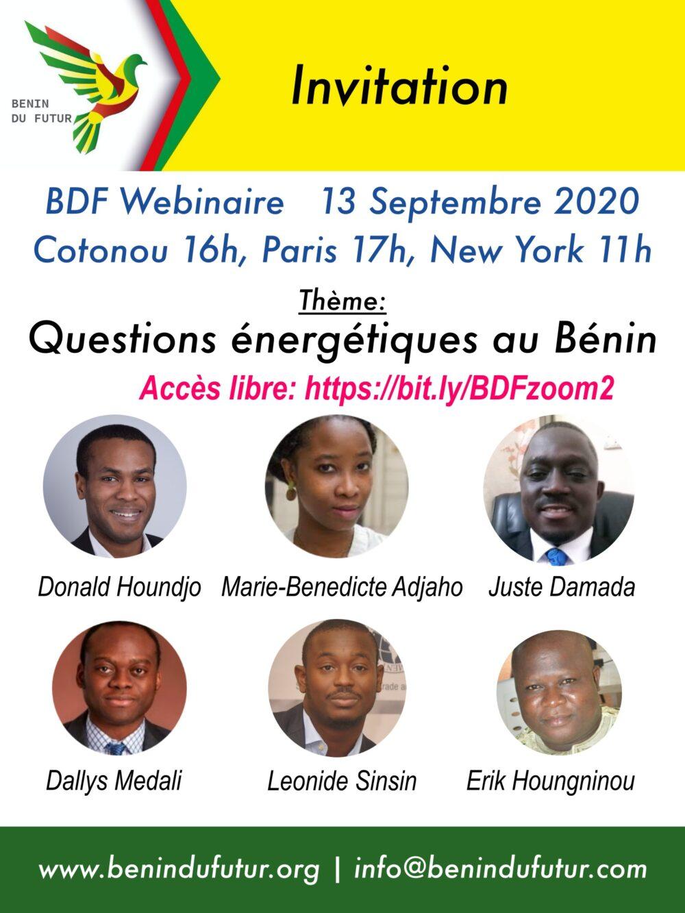 Questions énergétiques – 13 Septembre 2020