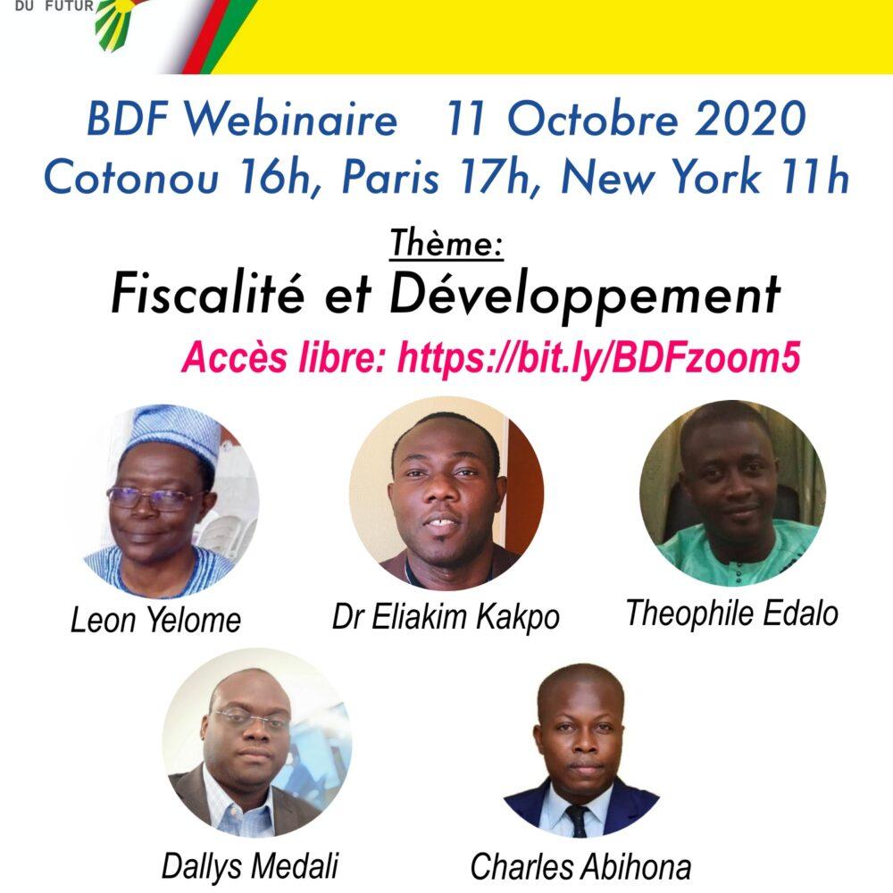 Fiscalité et Développement – 11 Octobre 2020