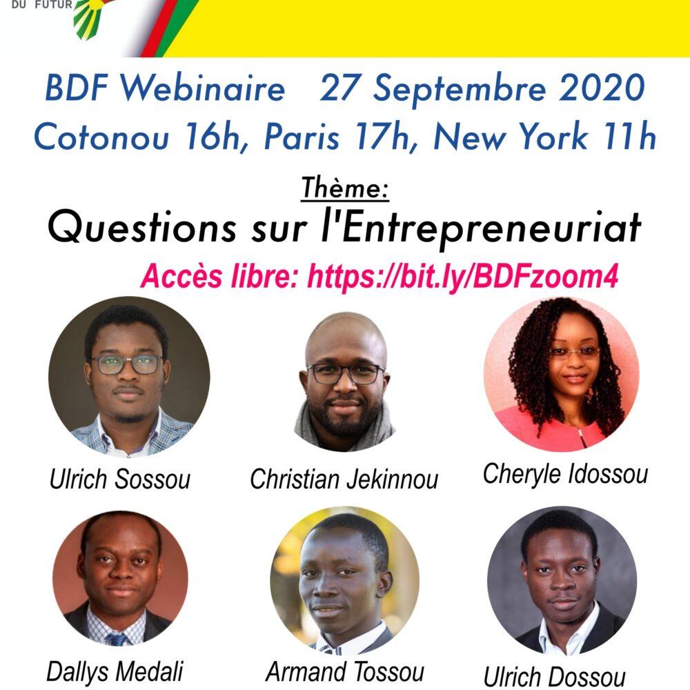 Entrepreneuriat Technologique – 27 Septembre 2020